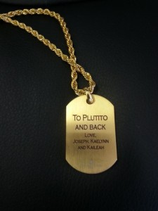 Dog tag - Solid gold