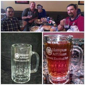 Hampton Lumber Beer Mugs