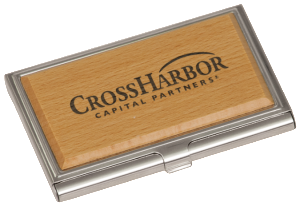 METAL/WOOD BUSINESS CARD HOLDER