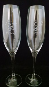 Wedding champange flutes